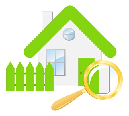 searching a house Vector