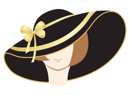 A woman in the bonnet Vector