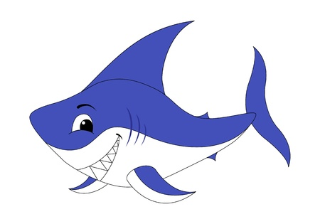A shark. illustration isolated on a white. Vector