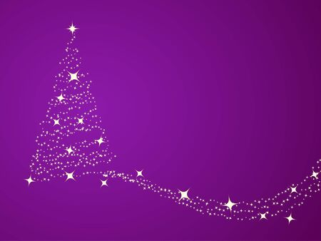 Christmas background, silhouette of a christmas tree. Vector