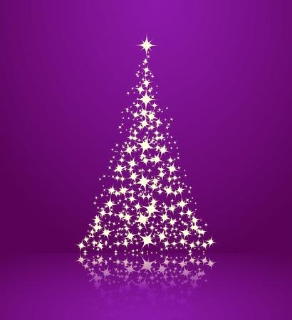 クリスマスの背景、クリスマス ツリーのシルエット。ベクトル イラスト。