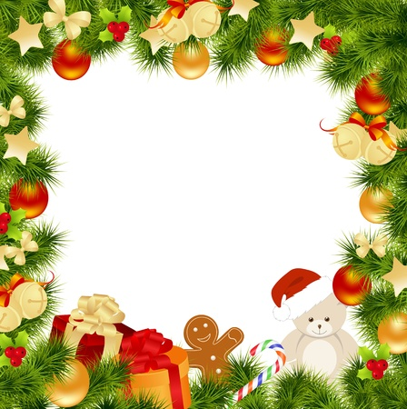 bell: Christmas card background. Vector illustration. Illustration