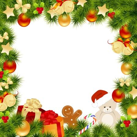holiday cookies: Tarjeta de Navidad de fondo. Ilustraci�n vectorial.