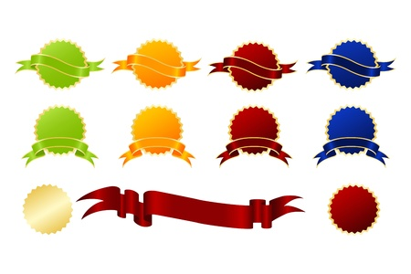 stickies: Award set. Vector illustration isolated on a white background. Illustration