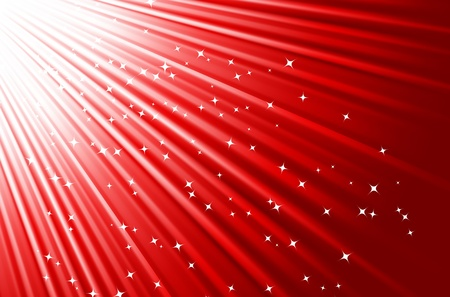 Festive red background wiht stars. Vector illustration. Vector
