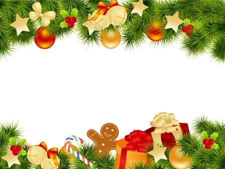 osos navide�os: Tarjeta de Navidad de fondo. Ilustraci�n vectorial.