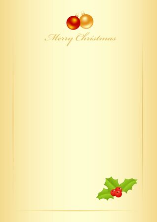 Christmas form for the letter with new year decorations. Vector illustration. Vector