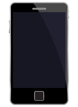 palmtop: illustration of mobile phone.