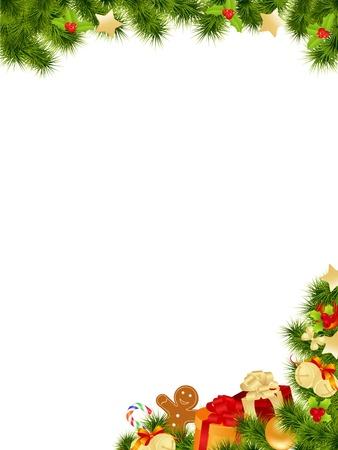 galletas de navidad: Tarjeta de Navidad de fondo. Ilustraci�n vectorial.