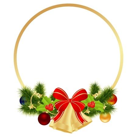 campanas navidad: Navidad fondo de la tarjeta. Ilustraci�n vectorial.
