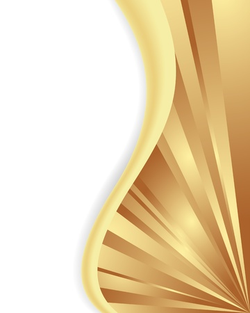 Bright gold wave, abstract corner form. Vector illustration. Stock Vector - 11530012