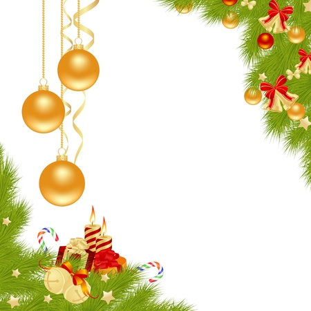 campanas de navidad: Navidad de fondo de la tarjeta. Ilustración del vector.