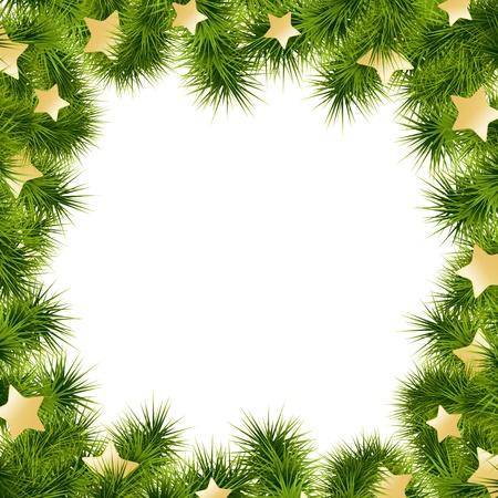 装飾でクリスマス カード白背景。ベクトルの図。  イラスト・ベクター素材