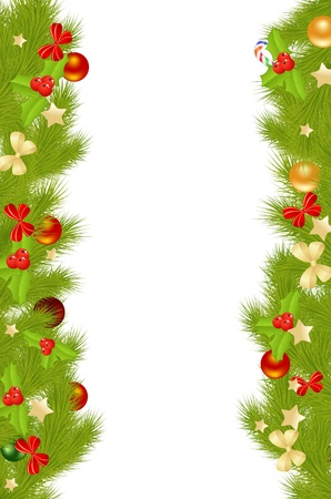 Christmas card background with decorations. Vector illustration. Stock Vector - 11530033