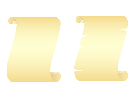 Two manuscripts isolated on a white. Vector illustration. Vector