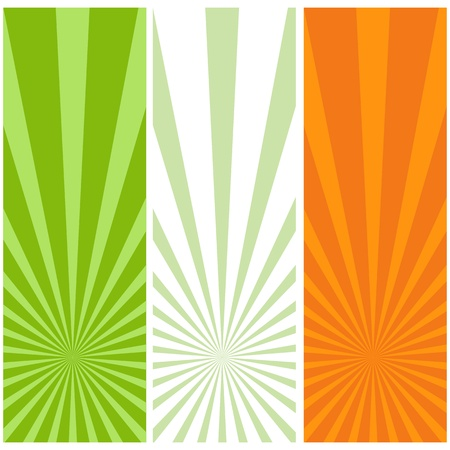 Irish flag banners isolated on a white background. Illustration. Stock Vector - 12486767