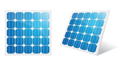 photovoltaics: Solar panel isolated on a white.Illustration. Illustration