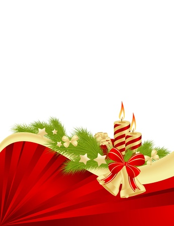 christmas embellishments: Christmas card background  illustration