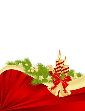 red and yellow card: Tarjeta de Navidad ilustraci�n de fondo