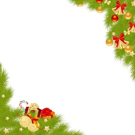 christmas embellishments: Christmas card background illustration  Illustration