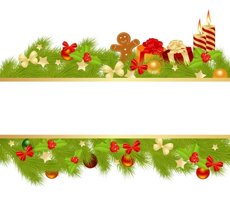 Weihnachtskarte Standard-Bild - 16297937