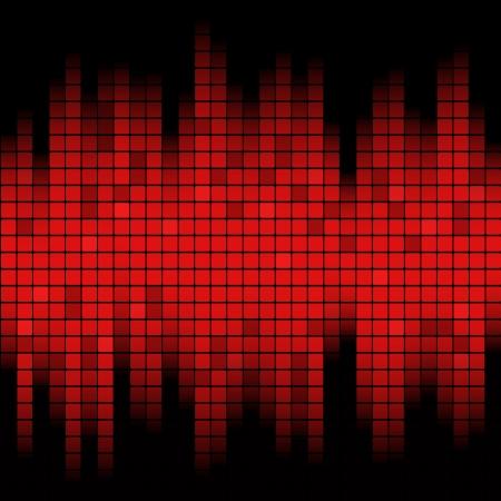 抽象音楽グラフィック イコライザー背景に影響を与えた
