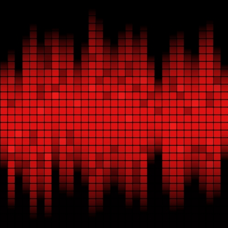 Abstracte muziek geïnspireerd grafische equalizer achtergrond