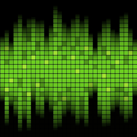 Abstracte muziek geïnspireerd grafische equalizer achtergrond Vector illustratie