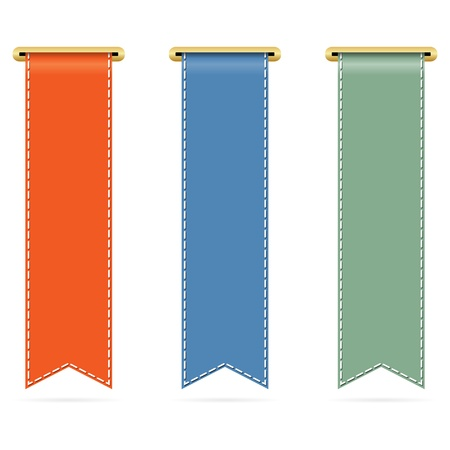 vertical banner: Set of different ribbons.  illustration.