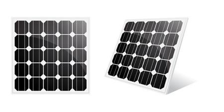 solar equipment: El panel solar aislado en un blanco.