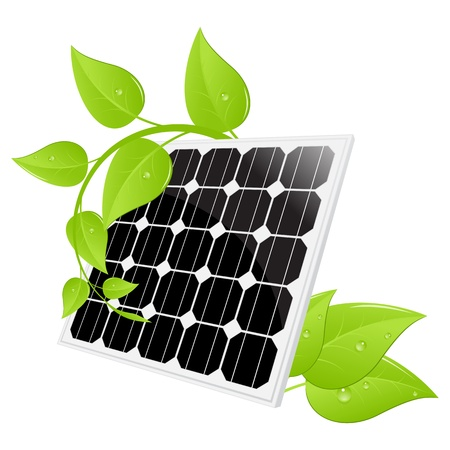 Solar panel isolated on a white. Vector illustration. Stock Vector - 17446345