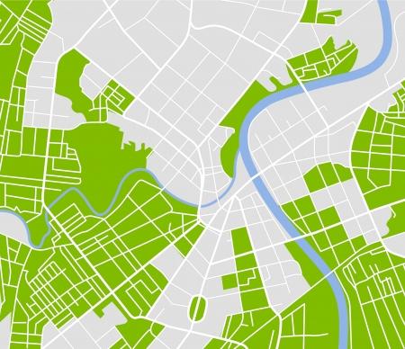 planlama: Şehrin sokak haritası Çizim