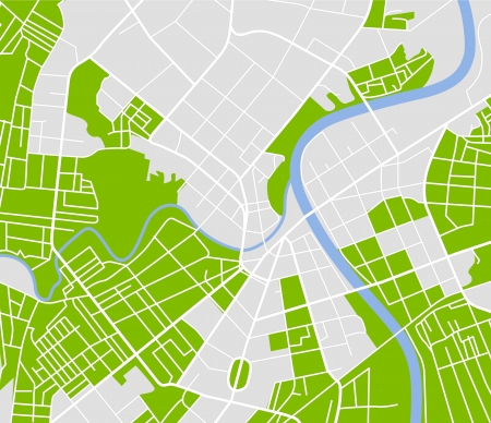 street map of town   Illustration