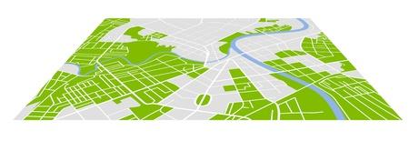 町の通り地図  イラスト・ベクター素材