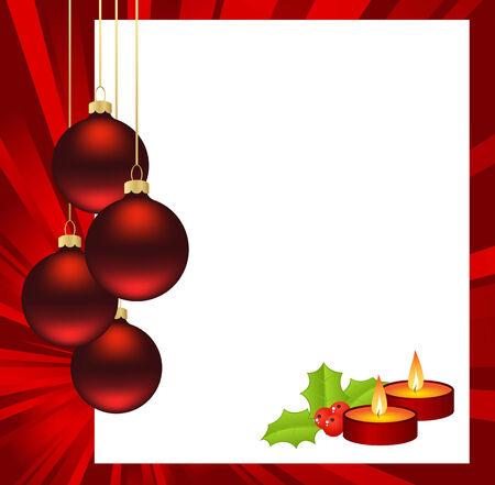 hollyberry: Template Christmas card. Vector illustration. Illustration