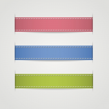 Set of different ribbons. Vector illustration. Vector