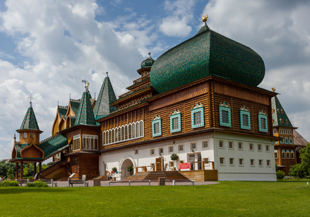 newsworthy: On 08 June 2013 in Kolomenskoe. Moscow. Russia.  Qualifying newsworthy second sentence (if necessary).Wooden palace of tsar Aleksey Mikhailovich.