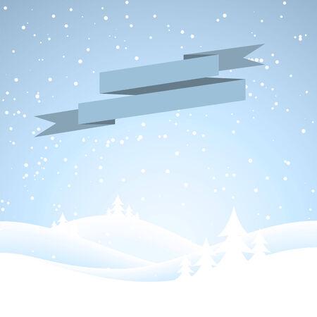 neige qui tombe: Couvert de neige hivernale scene.Snow tombant sur une for�t de sapin