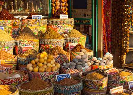 Markt van de straat in Egypte. Oude Markt. Sharm el Sheikh