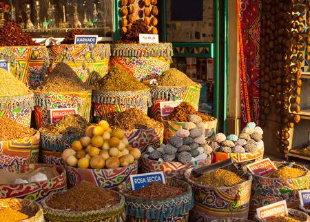 african basket: Street market in Egypt. Old Market. Sharm el-Sheikh
