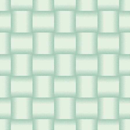 thatched: Green wicker texture used as seamless background. Vector illustration.