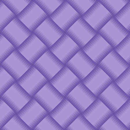 thatched: Violet wicker background as seamless pattern. Vector illustration.
