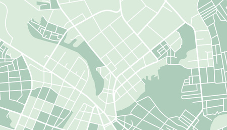 Editable vector street map of town. Vector illustration.
