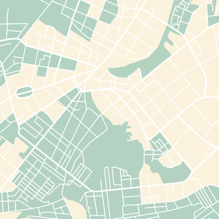 cartographer: Editable vector street map of town. Vector illustration.