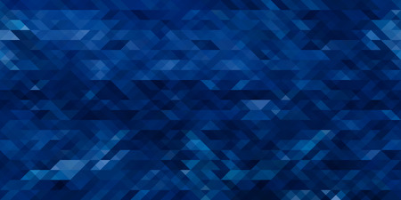 Horizontal abstract blue triangle geometrical seamless background. Vector illustration Vectores