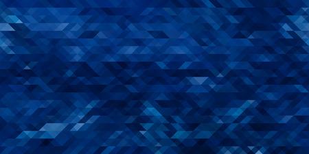 Horizontal abstraite triangle bleu géométrique seamless background. Vector illustration