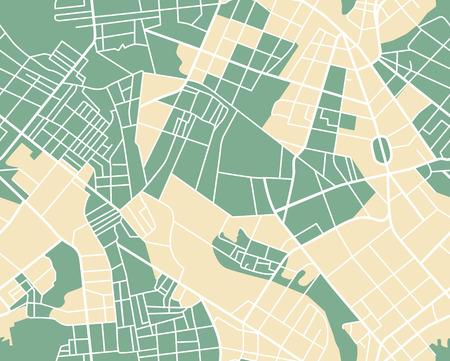 Editierbare Vektor-Stadtplan der Stadt als nahtlose Muster. Vektor-Illustration. Standard-Bild - 40548971