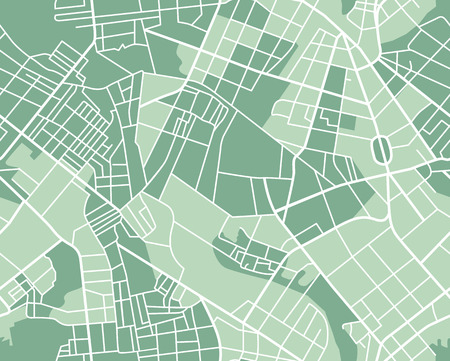 city center: Editable vector street map of town as seamless pattern. Vector illustration.