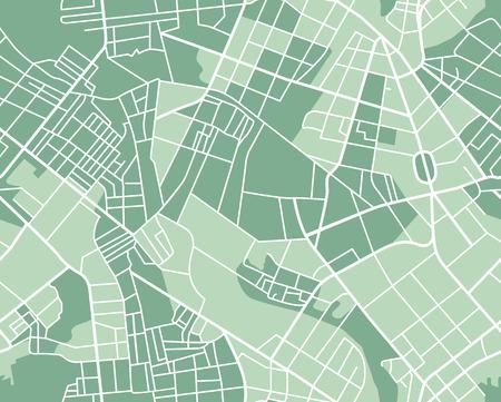 planung: Editierbare Vektor-Stadtplan der Stadt als nahtlose Muster. Vektor-Illustration.