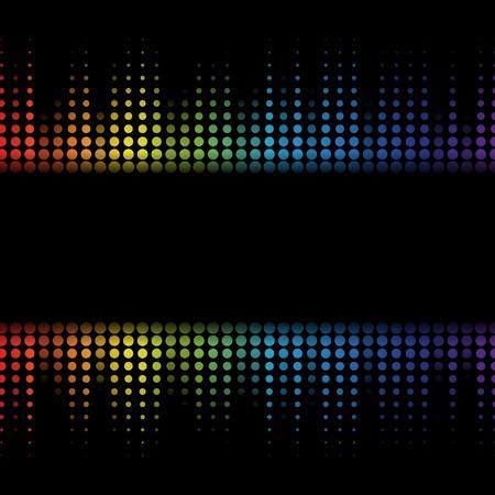 Digital abstract equalizer. Multicolored waveform background. vector Illustration